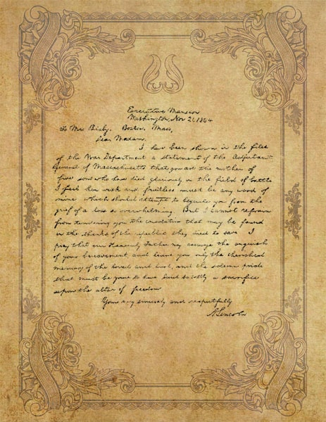 Abraham Lincoln  John Hay  And The Bixby Letter  U2013 The
