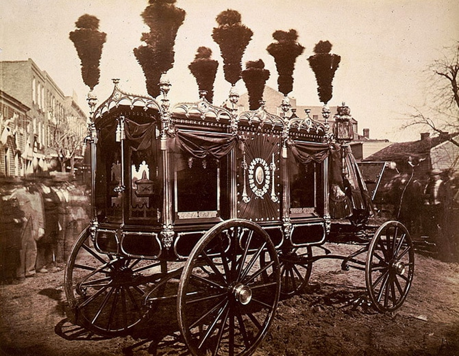 President Abraham Lincoln's hearse, Springfield, Illinois.